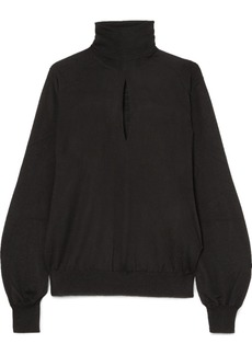 Tom Ford Cutout Cashmere And Silk-blend Turtleneck Sweater