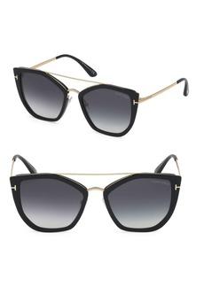 f6dbaca435f5 Tom Ford Cat-eye acetate and gold-tone sunglasses