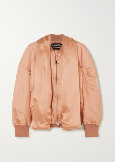 Tom Ford Draped Silk-satin Bomber Jacket