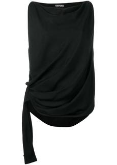Tom Ford draped sleeveless blouse