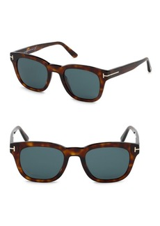 Tom Ford Eugenio 52MM Square Sunglasses