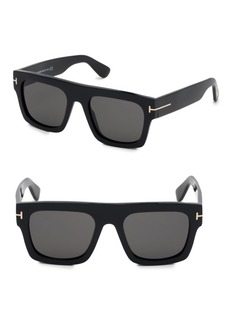 Tom Ford Fausto 53MM Square Sunglasses