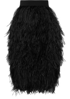 Tom Ford Feather And Silk-organza Skirt