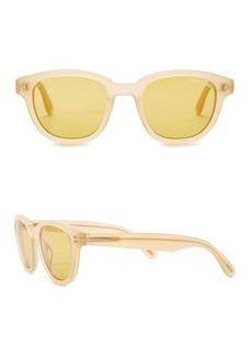 Tom Ford Garett 49mm Round Sunglasses
