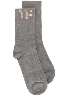 Tom Ford gem-embellished logo socks