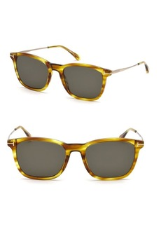 Tom Ford Geometric 53MM Square Sunglasses