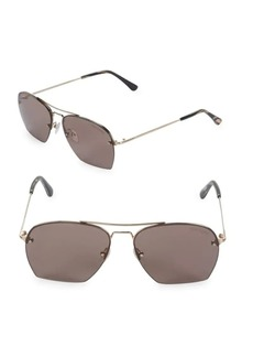 Tom Ford Geometric Aviator Sunglasses