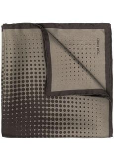 Tom Ford geometric print pocket square