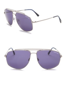 Tom Ford Georges 59mm Navigator Sunglasses