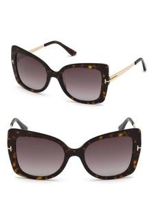 Gianna 54MM Cat Eye Tortoise Sunglasses