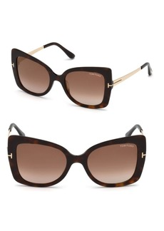 Gianna 54MM Cat Eye Tortoise Sunglasses