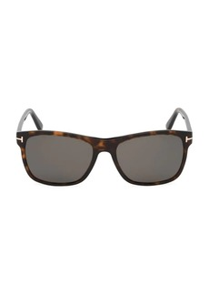 Tom Ford Giulio 54MM Square Havana Sunglasses
