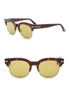 Tom Ford Harry 51mm Clubmaster Sunglasses
