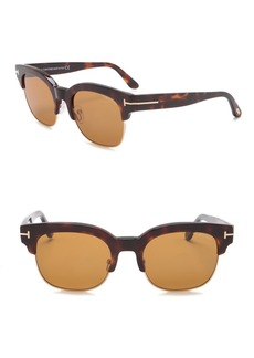 Tom Ford Harry 53mm Clubmaster Sunglasses