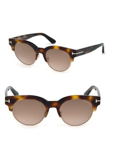 Henri 52MM Round Cat-Eye Sunglasses