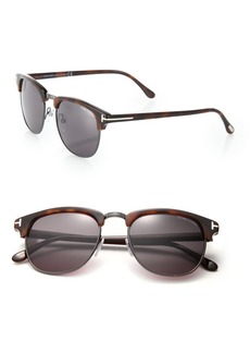 Tom Ford Henry 53MM Round Sunglasses