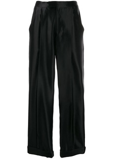 Tom Ford high waisted silk trousers