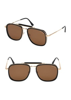 Tom Ford Huck 58MM Aviator Sunglasses