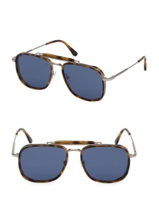 Tom Ford Huck 58MM Square Aviator Sunglasses