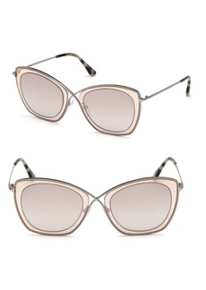 India 53MM Butterfly Sunglasses