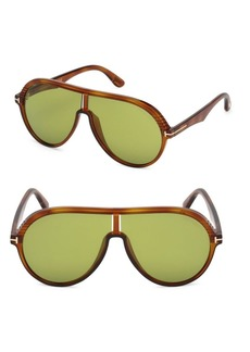 Tom Ford Montgomery 63MM Aviator Sunglasses