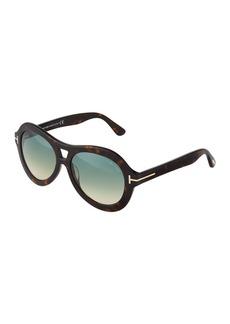 Tom Ford Isla Havana Acetate Sunglasses