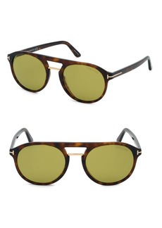 Tom Ford Ivan 54MM Round Sunglasses