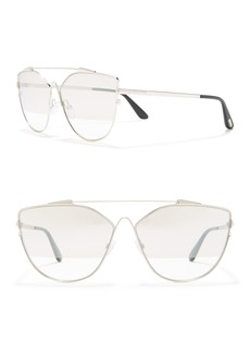 Tom Ford Jacquelyn 64mm Cat Eye Aviator Sunglasses