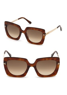 Jasmine 53MM Two Tone Square Sunglasses