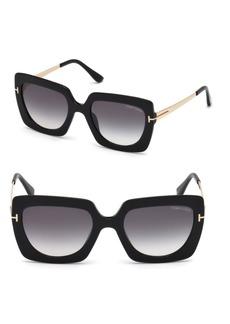 Tom Ford Jasmine 53MM Two Tone Square Sunglasses