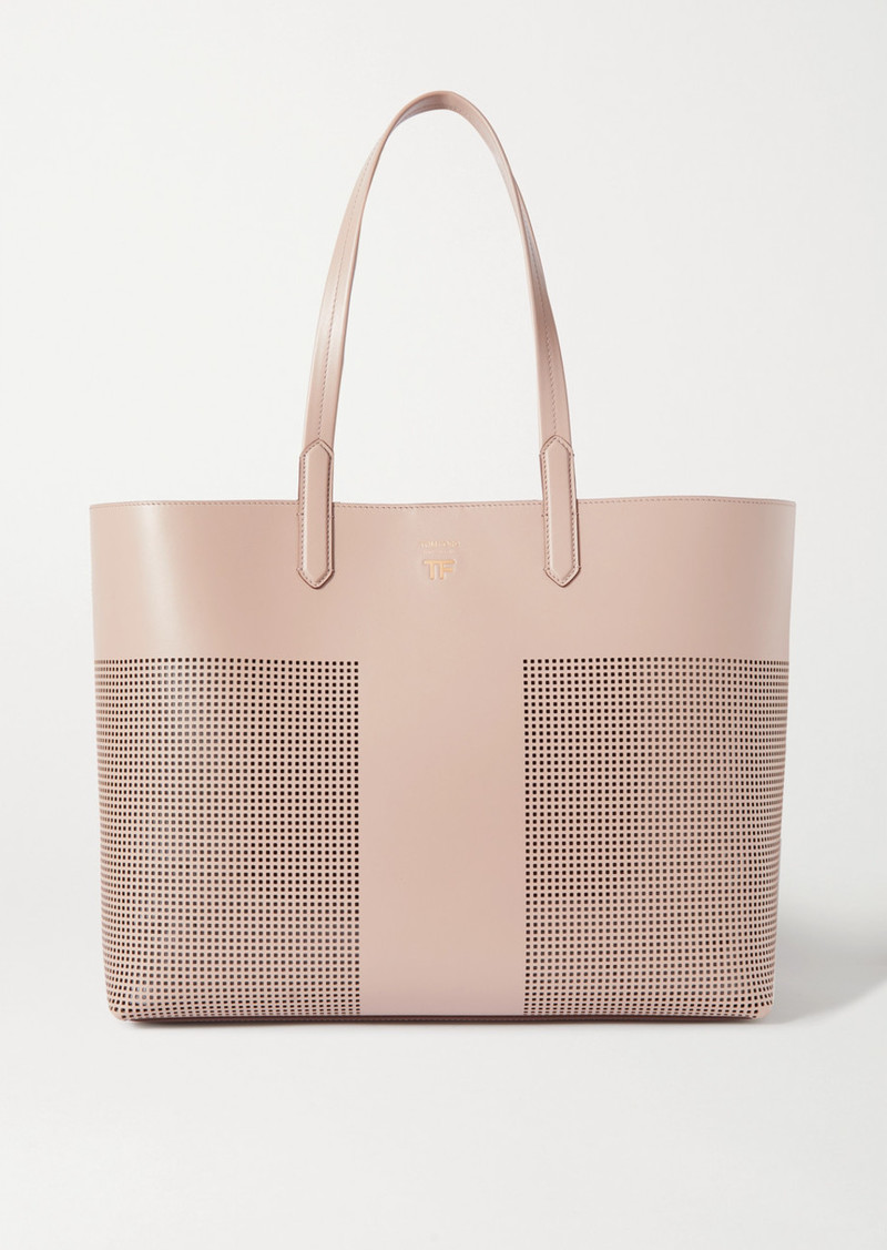 Tom Ford Large Laser-cut Leather Tote