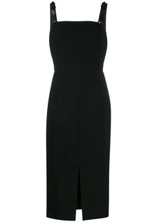 Tom Ford leather straps fitted dress