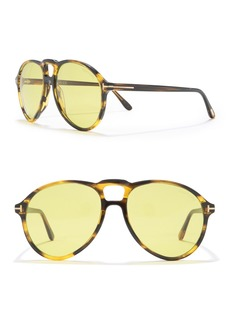 Tom Ford Lennon 57mm Aviator Sunglasses