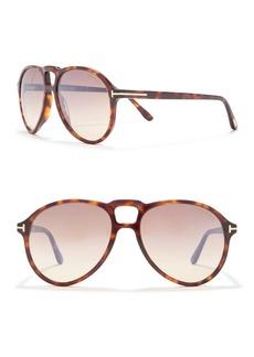 Tom Ford Lennon 57mm Aviator Sunglasses