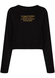 Tom Ford logo-print long-sleeve sweatshirt