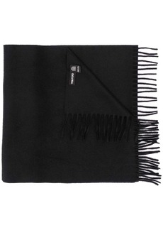 Tom Ford logo-embroidered fringed scarf