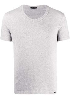 Tom Ford logo patch V-neck T-shirt