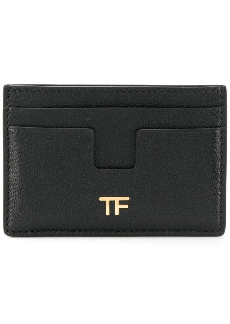 Tom Ford logo plaque cardholder