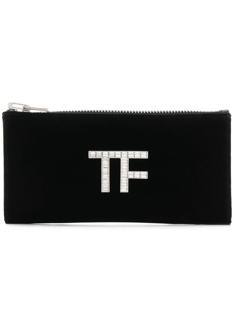 Tom Ford logo plaque clutch bag
