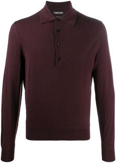 Tom Ford long-sleeve wool polo shirt