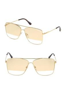 Tom Ford Magnus 60MM Square Aviator Sunglasses