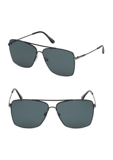 Tom Ford Magnus 60MM Square Aviator Sunglasses