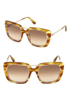 Marissa Honey Square Sunglasses/52MM