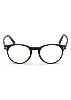 Men's Tom Ford 47mm Blue Light Blocking Glasses - Shiny Black / Blue Block