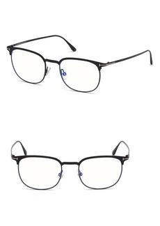 Men's Tom Ford 52mm Blue Light Blocking Glasses - Matte Black/ Blue Block