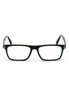 Men's Tom Ford 56mm Blue Light Blocking Glasses - Shiny Black/ Blue Block Lens