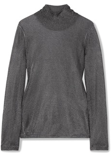 Tom Ford Metallic Stretch-knit Turtleneck Top