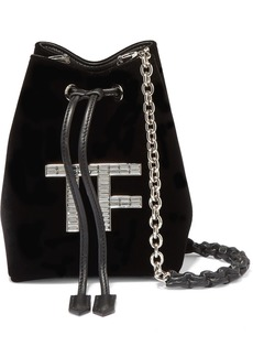 Tom Ford Mini Crystal-embellished Velvet Bucket Bag