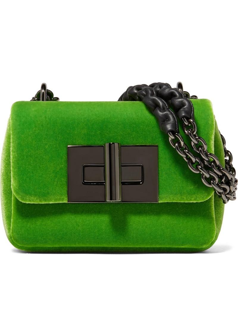 7b0692b3f87dd Tom Ford Natalia Mini Velvet Shoulder Bag | Handbags