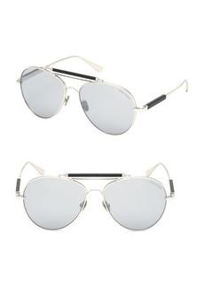 Tom Ford No. 16 60MM Round Aviator Sunglasses